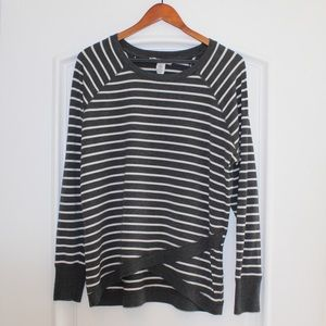 Workshop dark gray/white stripes long sleeve top